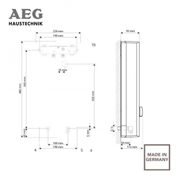 aeg 228841 ddle easy elektronischer durchlauferhitzer. Black Bedroom Furniture Sets. Home Design Ideas